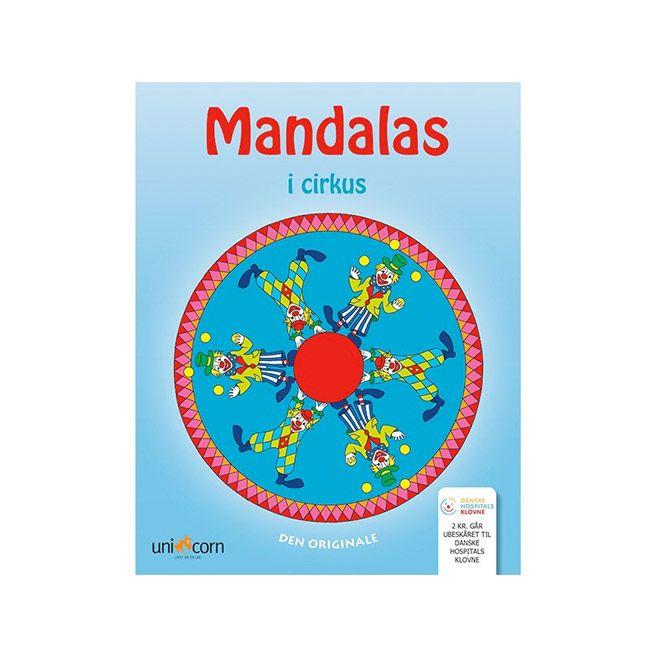 Støt de danske hospitals klovne ved køb af Mandalas malebog i cirkus se Olisan.dk