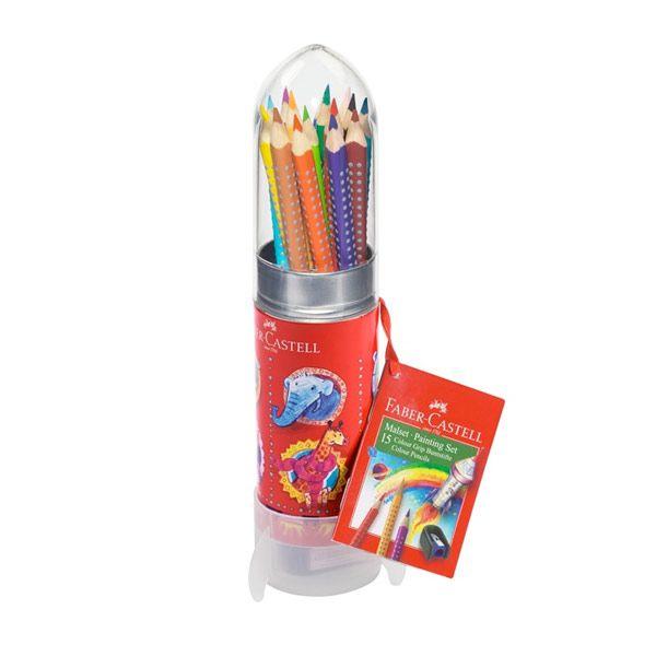 Faber-Castell raket med 15 grib farveblyanter