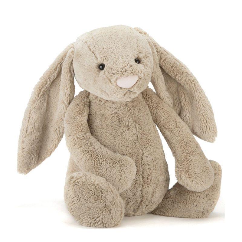 Jellycat kæmpe kanin bamse Bashful beige Olisan.dk