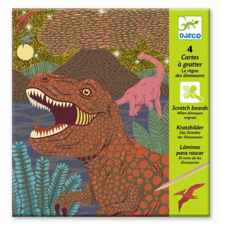 Skrabebilleder med dinosaurs - Djeco