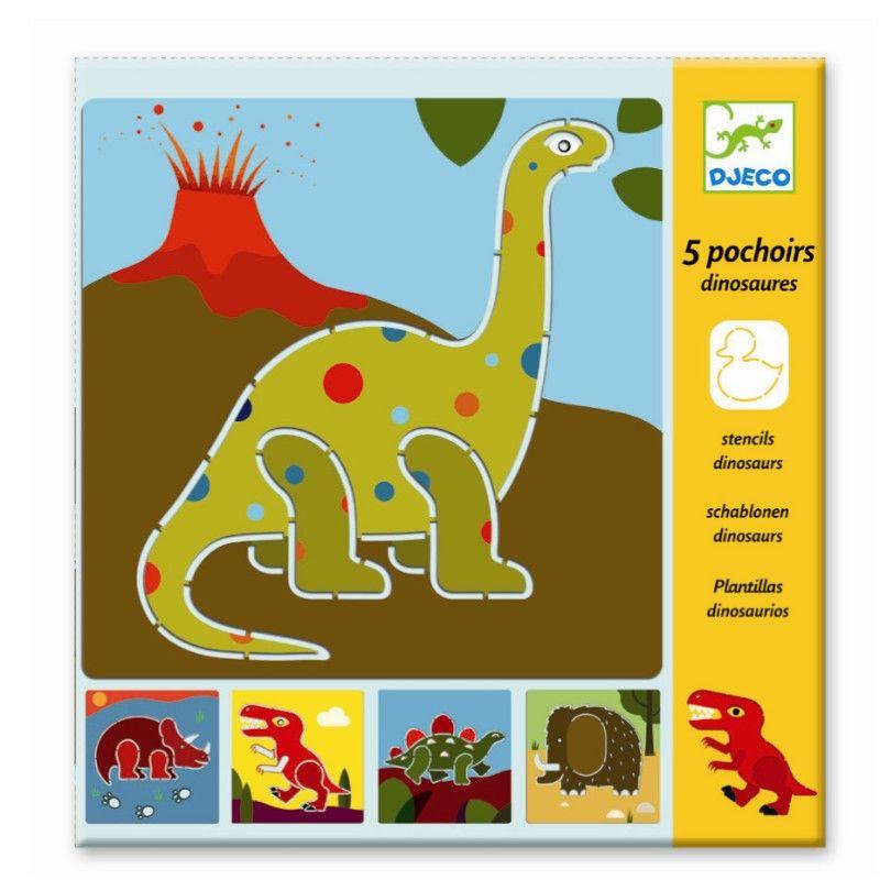 Skabeloner fra Djeco med dinosaurus