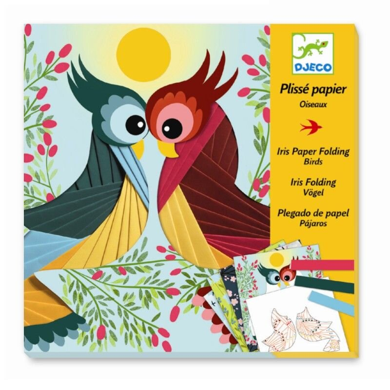 Papirfolderi fra Djeco med fugle