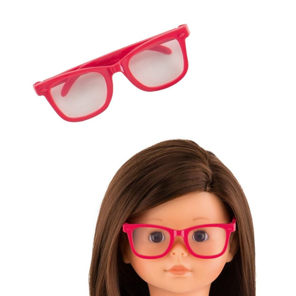 Corolle dukketilbehør briller i pink ray ban
