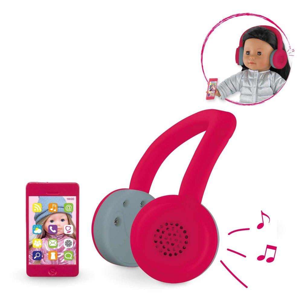 Headset og mobil til dukke Ma