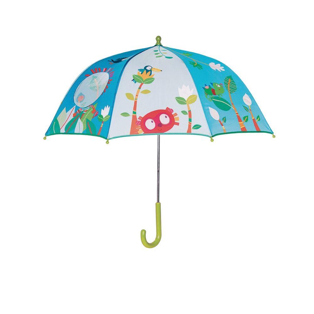 Paraply til børn med lemur og venner