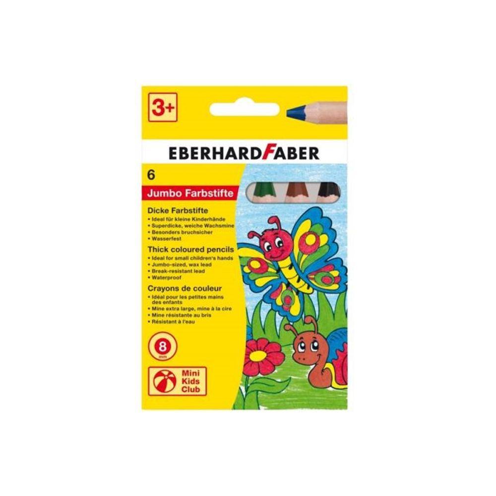 EberhardFaber 6 Jumbo farveblyanter Mini Kids Club Olisan.dk