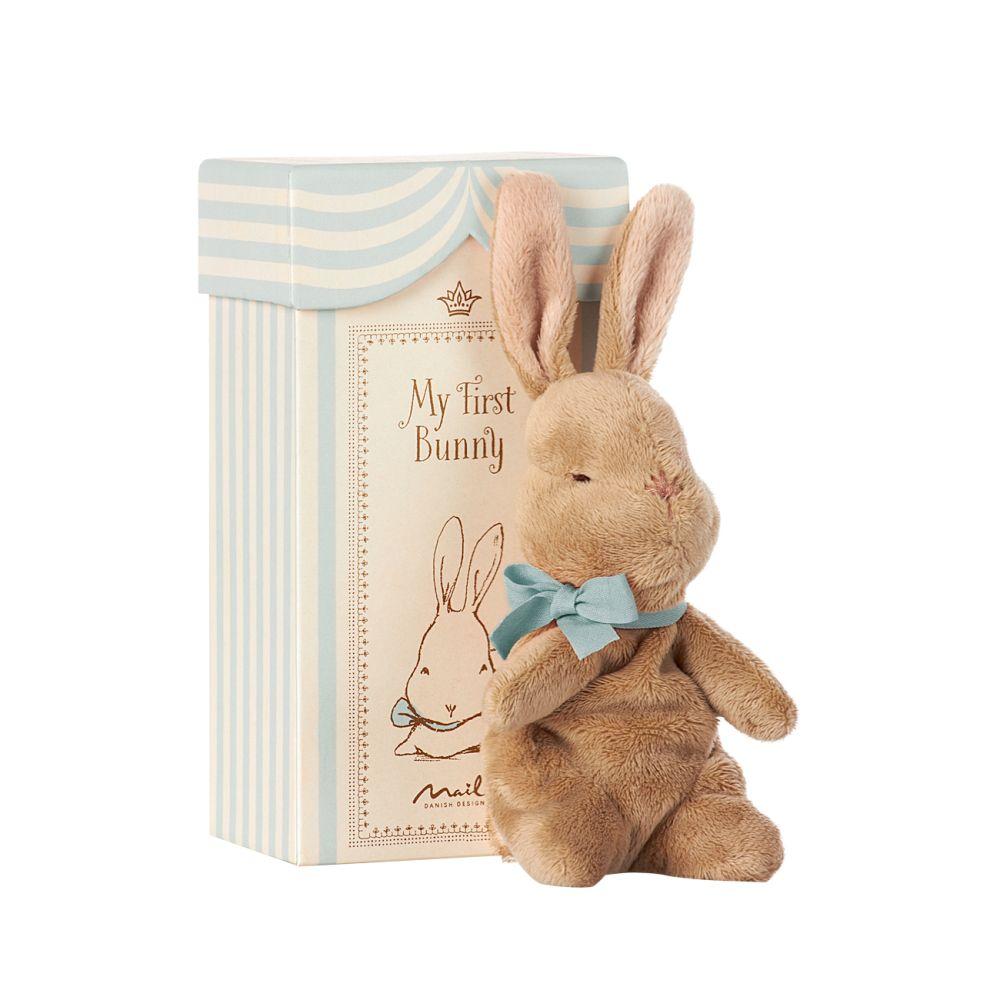 Maileg My First Bunny med æske mint grøn
