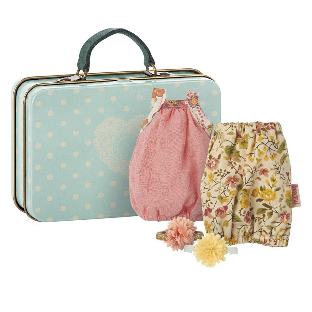 Maileg Kuffert med 2 flotte retro kjoler