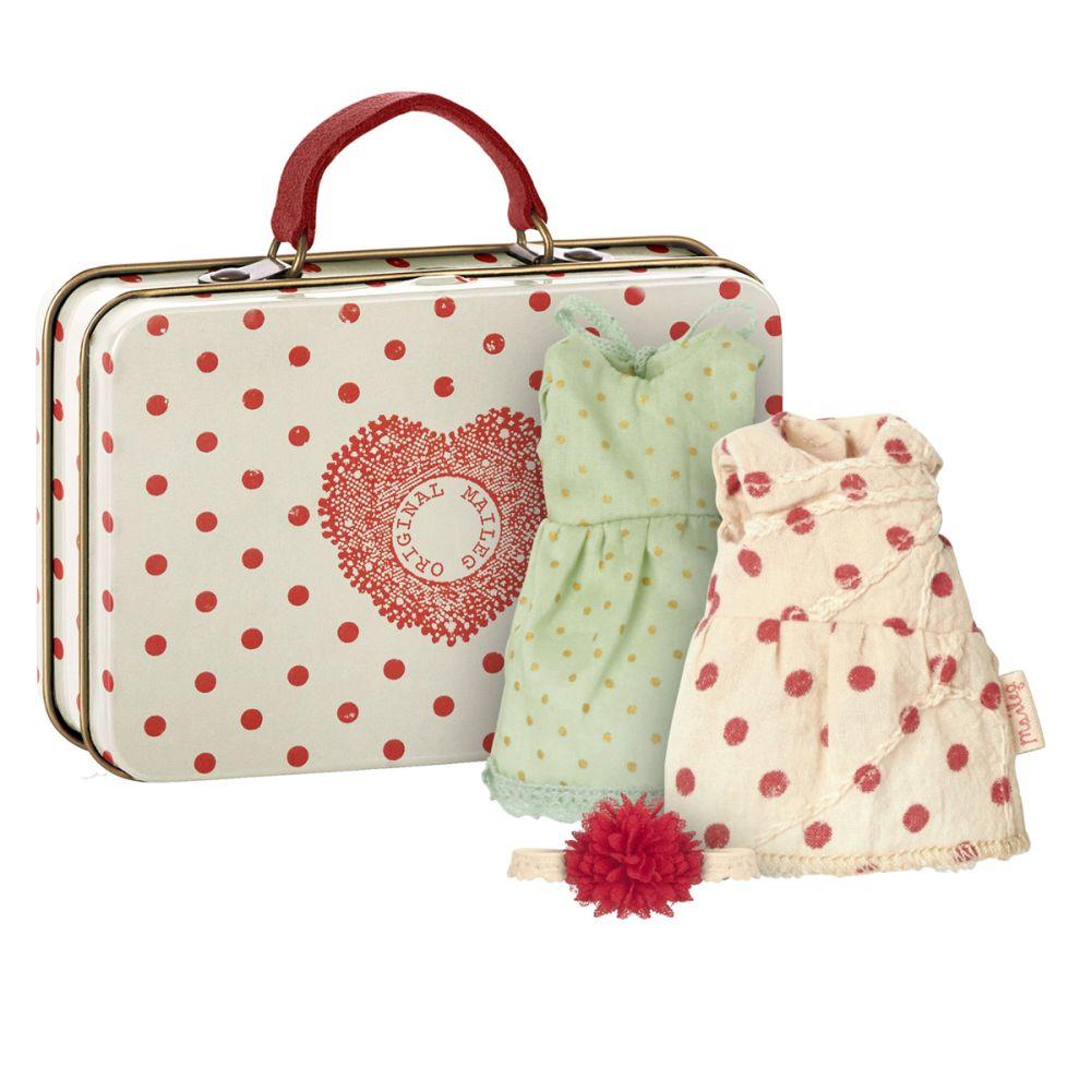 Maileg Kuffert med 2 kjoler