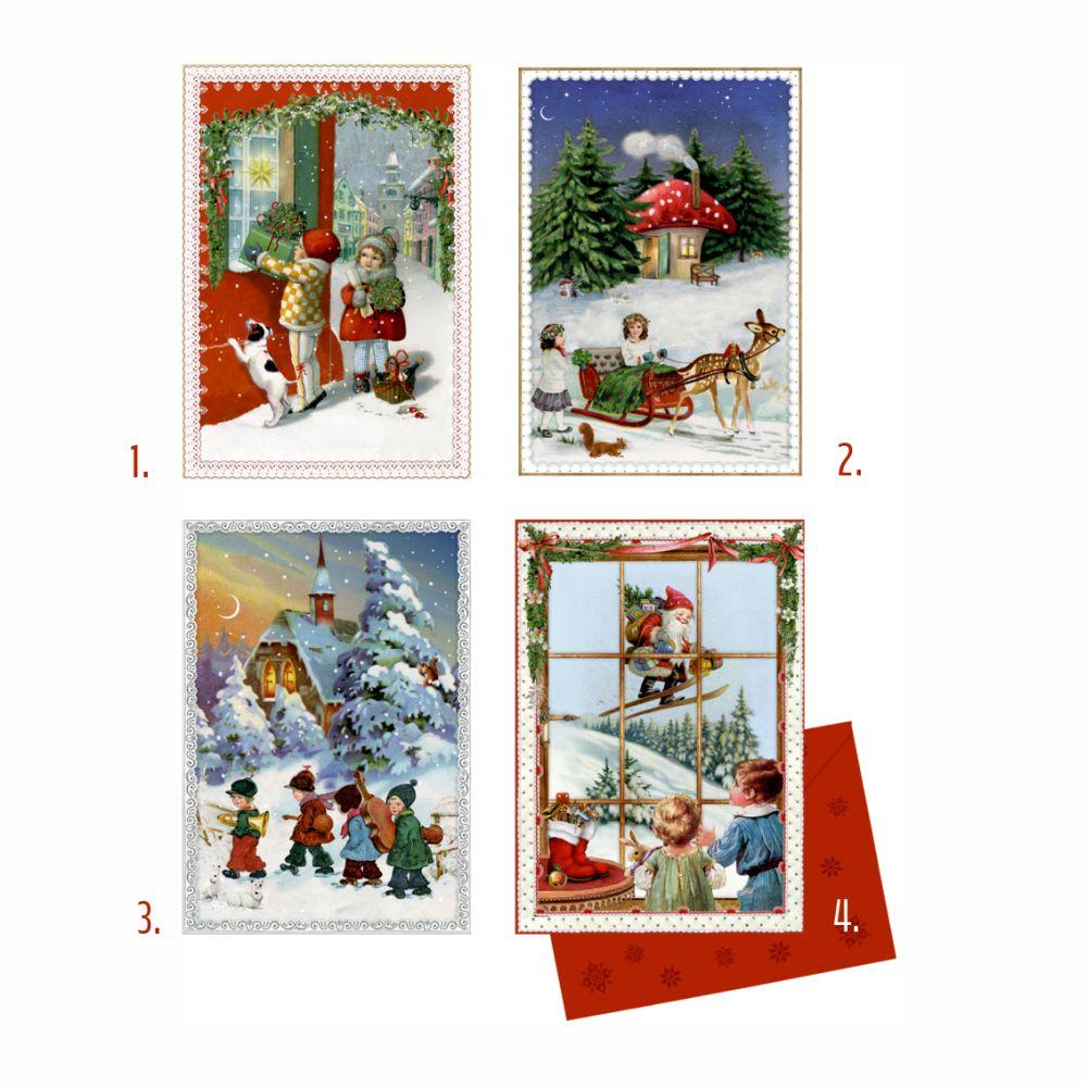 julekalender kort med låger