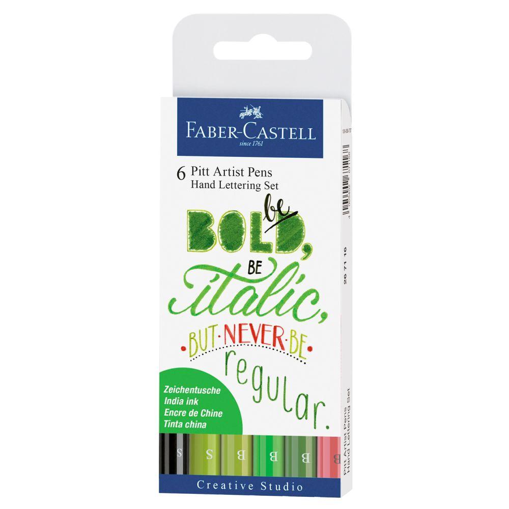 Handlettering tusser Pitt Artist pens fra Faber-Castell