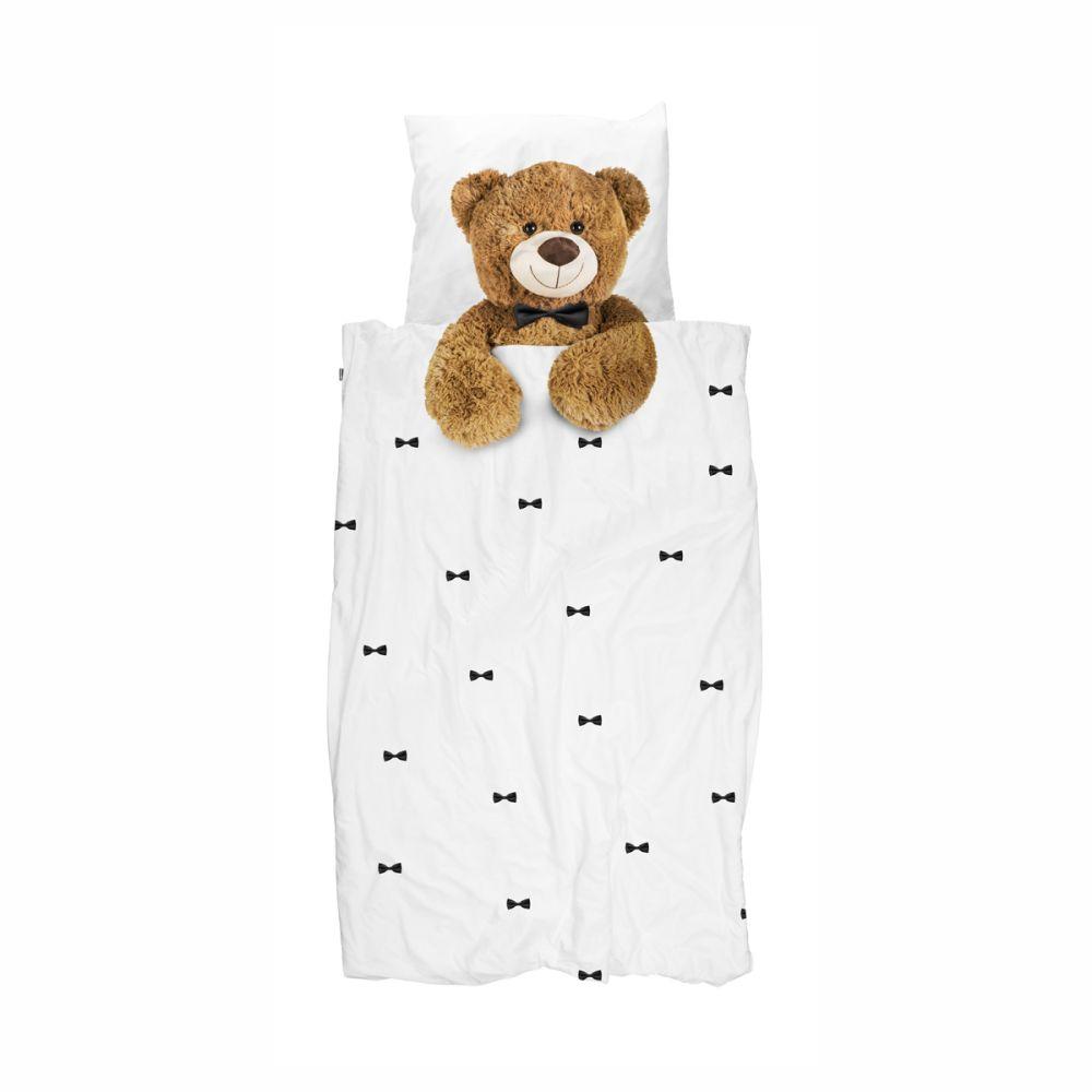 sengetøj med bamse i junor str. fra snurk