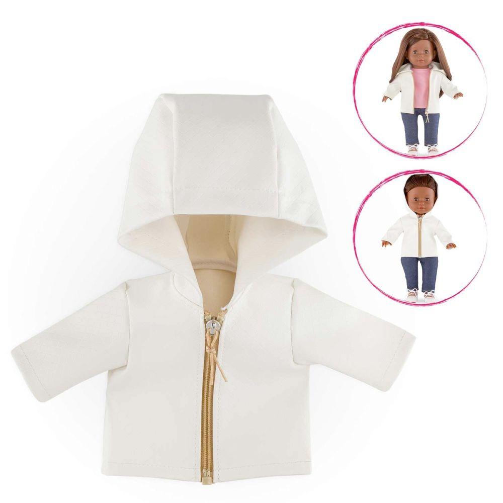 Regnjakke med hætte til dukke Ma fra Corolle
