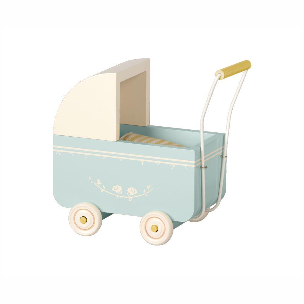 Maileg dukkevogn micro blå
