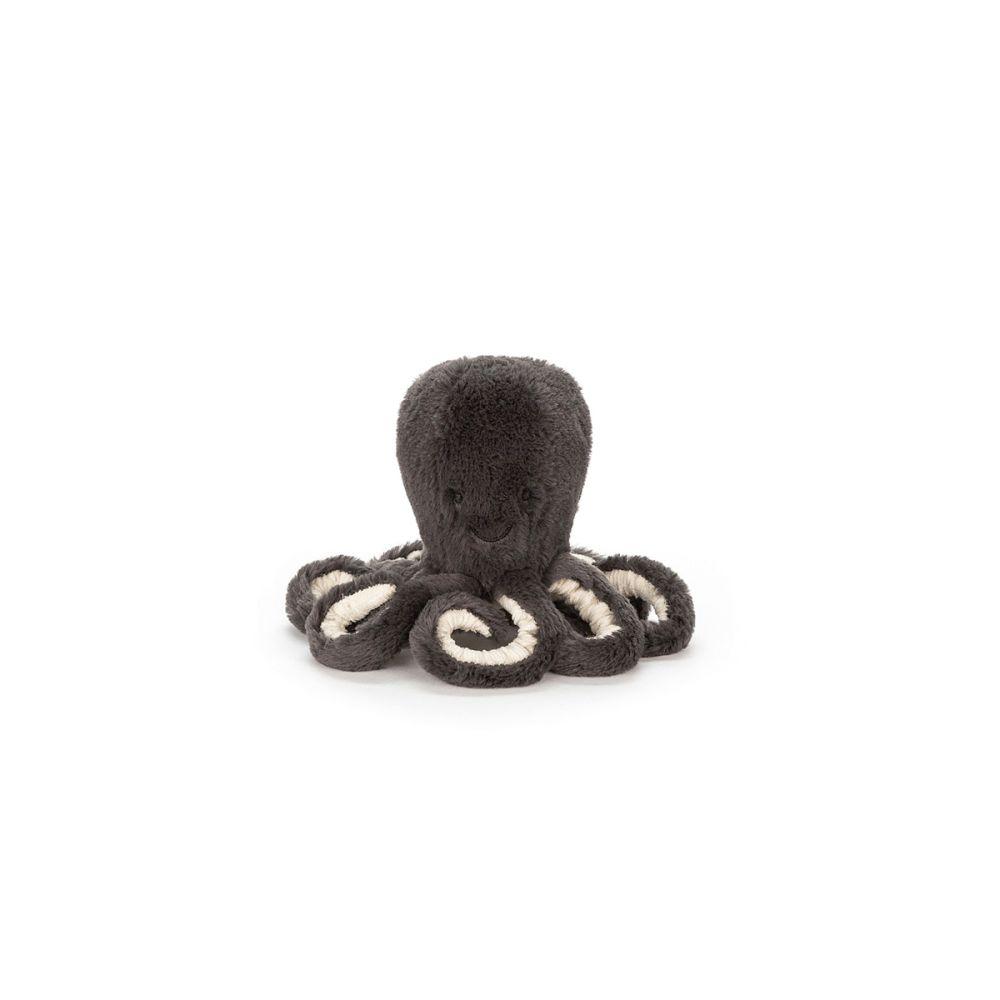 Jellycat Inky blæksprutte baby i koksgrå