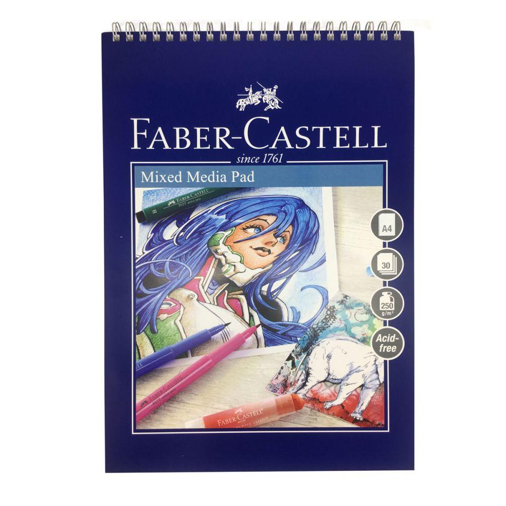 faber-castell blok 250g A4 mixed media