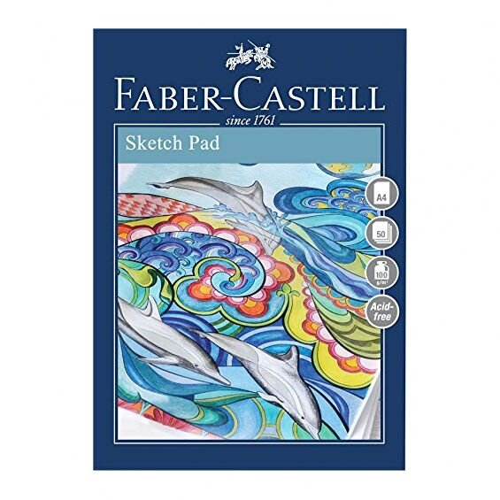 faber-castell sketch pad A4 100g