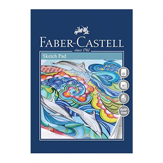 Lille tegneblok A5 med 50 ark fra Faber-Castell