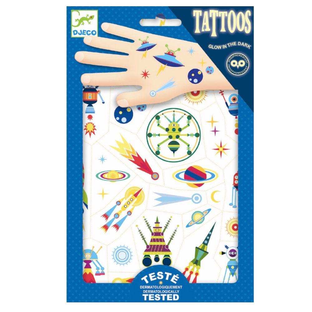 selvlysende tatoveringer med rum motivere