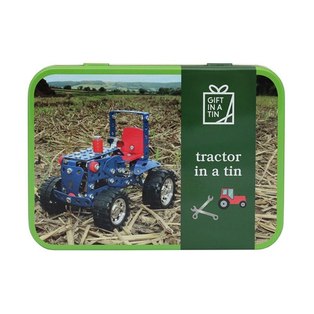 Byg selv Traktor i metal æske