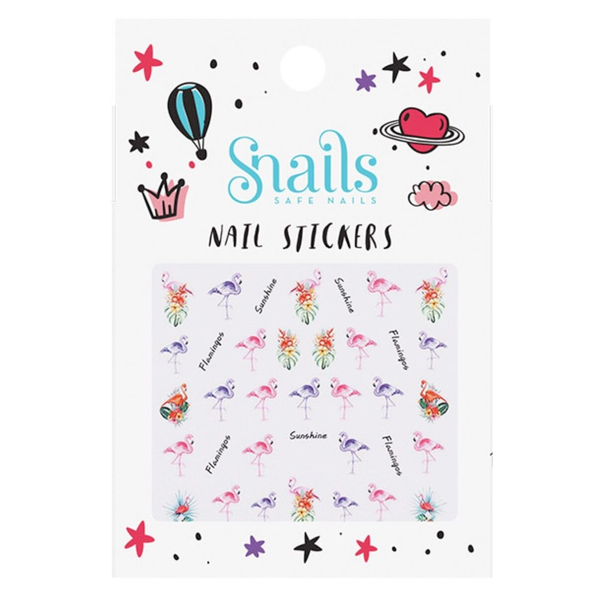 Snails Neglestickers Flamingo