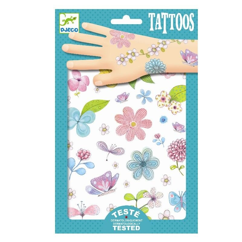 Djeco tattoos med blomster